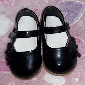 Black Mary Jane Baby Shoes